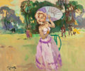 Fine Art - Painting, European:Contemporary   (1950 to present)  , Pierre Grisot (French, 1911-1995). At Fontainebleau. Oil oncanvas. 15 x 18-1/4 inches (38.1 x 46.4 cm). Signed lower le...