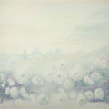 Paintings, Alain de Conde (French, b. 1932). White Chrysanthemums in the Mist. Oil on canvas. 39-3/4 x 39-3/4 inches (101.0 x 101.0...