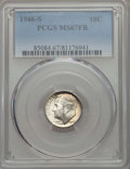 Roosevelt Dimes, 1946-S 10C MS67 Full Bands PCGS. PCGS Population: (165/12). NGC Census: (219/2). Mintage 27,900,000. ...