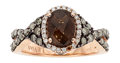 Estate Jewelry:Rings, Smoky Quartz, Colored Diamond, Diamond, Pink Gold Ring, LeVian. ...