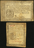 Colonial Notes:Pennsylvania, Pennsylvania Colonials.. ... (Total: 2 notes)