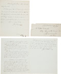 Autographs:Statesmen, [Abraham Lincoln]: Manuscript of Senate Resolution of Support. ...(Total: 2 Items)