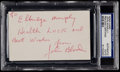 Football Collectibles:Others, Johnny Blood McNally Signed Index Card....
