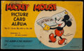"""Non-Sport Cards:Singles (Pre-1950), 1935 R89 Mickey Mouse """"Volume 2"""" Picture Card Album With 11Cards...."""