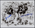 Football Collectibles:Photos, Y.A. Tittle and Hugh McElhenny Signed Photograph....