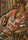 Fine Art - Painting, European:Modern  (1900 1949)  , Maurice Loutreuil (French, 1885-1925). Berthe Loutreuil in theChair. Oil on canvas. 32 x 23-1/2 inches (81.3 x 59.7 cm)...