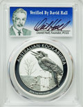 Australia, 2016-P $1 One Ounce Kookaburra Silver Dollar MS70 PCGS. Signature of PCGS Founder David Hall. PCGS Population: (100). NGC C...
