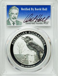 Australia, 2016-P $1 One Ounce Kookaburra Silver Dollar MS70 PCGS. Signatureof PCGS Founder David Hall. PCGS Population: (100). NGC C...
