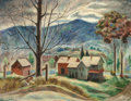Fine Art - Painting, American:Contemporary   (1950 to present)  , George J. Marinko (American, 1908-1989). Homestead in theMountains, 1950. Oil on canvas. 30 x 38 inches (76.2 x 96.5cm...