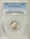 Roosevelt Dimes, 1952 10C MS67 Full Bands PCGS. PCGS Population: (29/0). NGC Census: (36/0). Mintage 99,000,000. ...