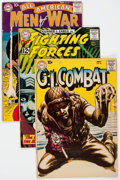 Silver Age (1956-1969):War, DC Silver Age War Comics Group of 68 (DC, 1960s) Condition: Average VG.... (Total: 68 Comic Books)