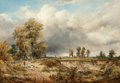 Fine Art - Painting, European:Antique  (Pre 1900), Attributed to Frederick W. Watts (British, 1800-1862). HedinghamCastle, Essex. Oil on canvas. 17 x 24 inches (43.2 x 61...