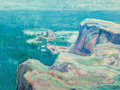 Fine Art - Painting, European:Contemporary   (1950 to present)  , Late 19th/Early 20th Century School. Seaside Cliffs. Oil oncanvas. 18 x 23-3/4 inches (45.7 x 60.3 cm). Signed indistin...