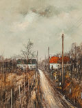 Fine Art - Painting, European:Contemporary   (1950 to present)  , Michel Girard (French, b. 1939). Winter's Road. Oil oncanvas. 16 x 12-1/2 inches (40.6 x 31.8 cm). Signed lower left: ...