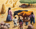 Other:Contemporary, Amador Lugo (Mexican, 1921-2002). Escena Campestre. Oil onmasonite. 15-3/4 x 19-5/8 inches (40.0 x 49.8 cm). Signed and...