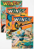 Golden Age (1938-1955):War, Wings Comics Group of 5 (Fiction House, 1947-48) Condition: AverageVG/FN.... (Total: 5 Comic Books)