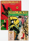 Golden Age (1938-1955):Superhero, Yellowjacket Comics #2 and 8 Group (Charlton, 1944-46).... (Total: 2 Comic Books)