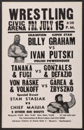 Miscellaneous Collectibles:General, 1977 Billy Graham vs. Ivan Putski Original Wrestling Poster....