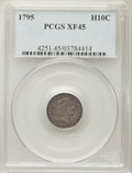 Early Half Dimes: , 1795 H10C XF45 PCGS. PCGS Population: (40/277). NGC Census:(16/222). Mintage 78,600. ...
