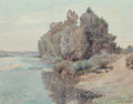 Fine Art - Painting, European:Antique  (Pre 1900), A. Possati (Late 19th/Early 20th Century). Slow River. Oilon canvas. 14 x 18-1/4 inches (35.6 x 46.4 cm). Signed lower ...