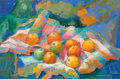 Fine Art - Work on Paper:Drawing, Elisabeth Stenne (French, 20th Century). Still life withapples. Pastel on paper. 19 x 28-3/4 inches (48.3 x 73.0 cm).S...