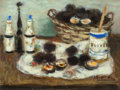 Fine Art - Painting, European:Contemporary   (1950 to present)  , Eugene Baboulene (French, 1905-1994). Nature Morte auxOursins, 1975. Oil on canvas. 10-3/4 x 14 inches (27.3 x 35.6cm)...