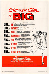 "Georgy Girl (Columbia, 1966). One Sheet (27"" X 41"") Style B & Photos (12) (8"" X 10""). Comedy..."