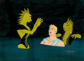 Animation Art:Production Cel, The New Adventures of Flash Gordon Production Cel Setup Animation Art Group (Filmation, 1979).. ...