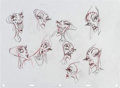 animation art:Model Sheet, The Emperor's New Groove Yzma Hand-Drawn Model Sheet (Walt Disney, 2000)....