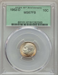 Roosevelt Dimes, 1952-D 10C MS67 Full Bands PCGS. PCGS Population: (77/1). NGC Census: (102/1). Mintage 122,100,000. ...