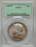 Kennedy Half Dollars, 1964-D 50C MS66+ PCGS. PCGS Population: (688/49 and 36/2+). NGCCensus: (411/14 and 1/0+). Mintage 156,205,440. ...