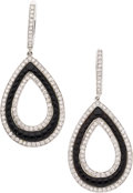 Estate Jewelry:Earrings, Diamond, Black Onyx, White Gold Earrings, Eli Frei. ... (Total: 2Items)