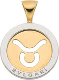 Estate Jewelry:Pendants and Lockets, Gold, Stainless Steel Pendant, Bvlgari. ...