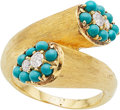 Estate Jewelry:Rings, Diamond, Turquoise, Gold Ring. ...