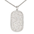 Estate Jewelry:Pendants and Lockets, Diamond, White Gold Pendant-Necklace, Bez Ambar. ...