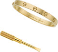 Estate Jewelry:Bracelets, Gold Bracelet, Cartier. ...