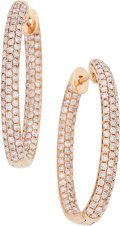 Estate Jewelry:Earrings, Colored Diamond, Pink Gold Earrings, Hana. ... (Total: 2 Items)