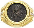 Estate Jewelry:Rings, Ancient Coin, Diamond, Gold Ring. ...