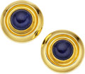 Estate Jewelry:Earrings, Sodalite, Gold Earrings, LaLaounis. ... (Total: 2 Items)