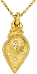 Estate Jewelry:Pendants and Lockets, Diamond, Gold Pendant-Necklace, Linda Lee Johnson. ...
