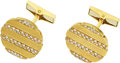 Estate Jewelry:Cufflinks, Diamond, Gold Cuff Links, Piaget. ...