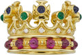 Estate Jewelry:Rings, Multi-Stone, Diamond, Gold Ring, Cynthia Bach. ...