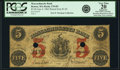Obsoletes By State:Massachusetts, Boston, MA - Massachusetts Bank $5 Raised from $1 June 4, 1862MA-270 R5 SENC. PCGS Very Fine 20 Apparent.. ...