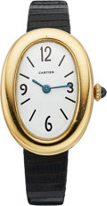 Estate Jewelry:Watches, Cartier Lady's Gold Baignoire Watch. ...