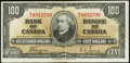 Canadian Currency: , BC-27c $100 1937. ...