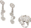 Estate Jewelry:Suites, Diamond, White Gold Jewelry Suite, Chanel. ... (Total: 3 Items)