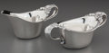 Silver Holloware, American:Creamers and Sugars, A Tiffany & Co. Silver Creamer and Sugar Set with CloverBlossom Motif, New York, New York, circa 1902-1907. Marks tosugar:... (Total: 2 Items)