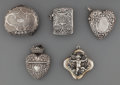 Silver Smalls:Match Safes, Four Silver Match Safes and a Silver Coin Purse, early 20thcentury. Marks: (various marks). 1-7/8 inches high x 2-1/8 inche...(Total: 5 Items)