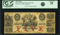 Obsoletes By State:Massachusetts, North Adams, MA - Adams Bank $5 Contemporary Counterfeit Oct. 1,1862 MA-935 C32a. PCGS Very Fine 20.. ...
