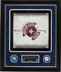 Baseball Collectibles:Others, 2013 Mariano Rivera Signed Game Used Base from Final Game of His Last Season....